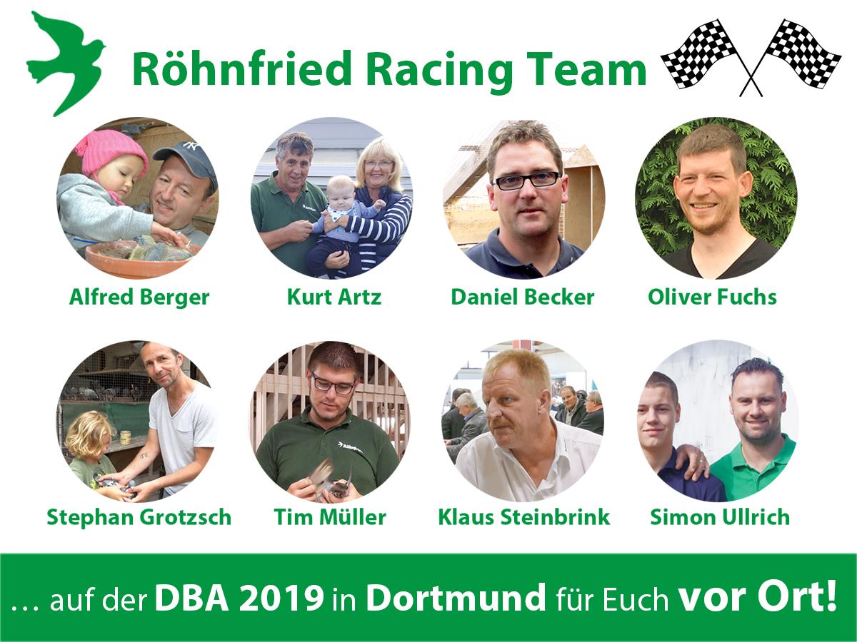 Sieben Mitglieder unseres phantastischen Röhnfried Racing Teams und unser Geschäftsführer Alfred Berger freuen sich auf Euren Besuch!