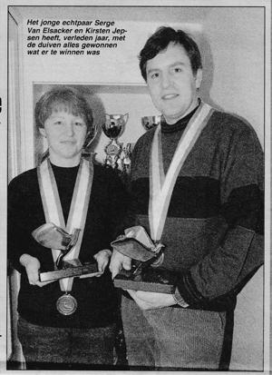 Serge Van Elsacker und Kirsten Jepsen 1991