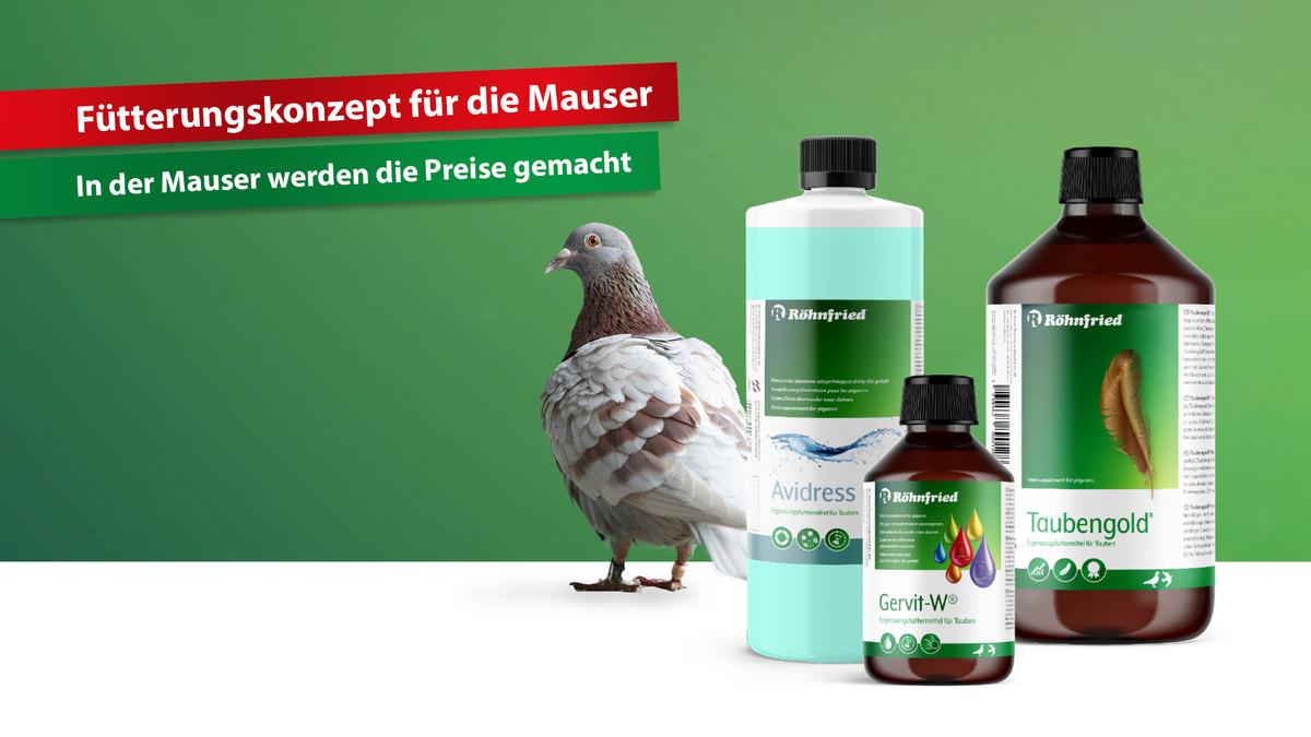 Mauserpaket-Röhnfried-Brieftauben-Mauser